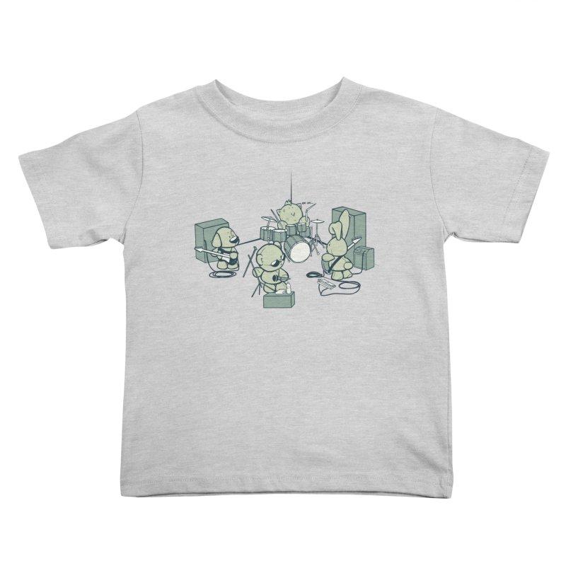 Teddy Band Kids Toddler T-Shirt by AlePresser's Artist Shop