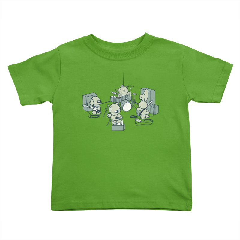 Teddy Band Kids Toddler T-Shirt by AlePresser's Artist Shop