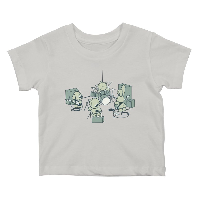 Teddy Band Kids Baby T-Shirt by AlePresser's Artist Shop
