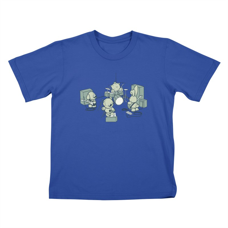 Teddy Band Kids T-Shirt by AlePresser's Artist Shop