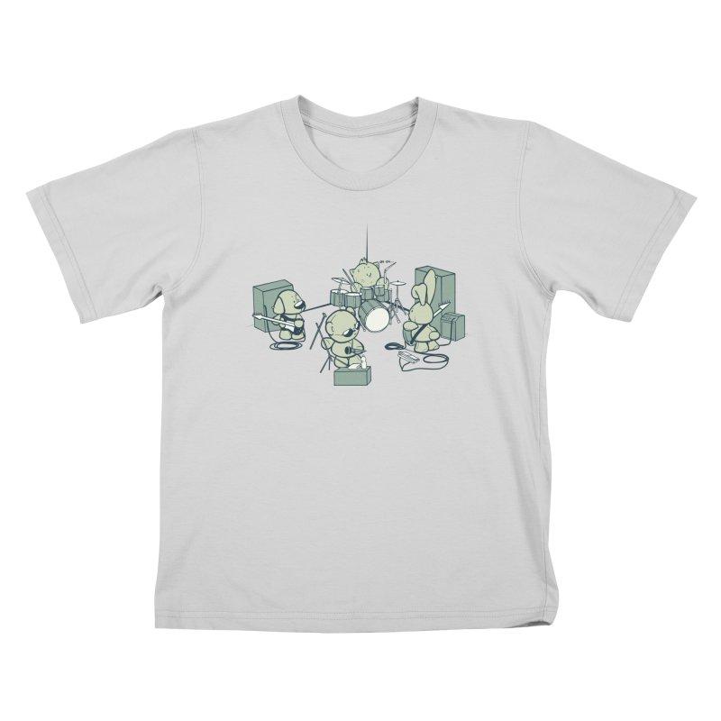 Teddy Band Kids T-Shirt by AlePresser's Artist Shop