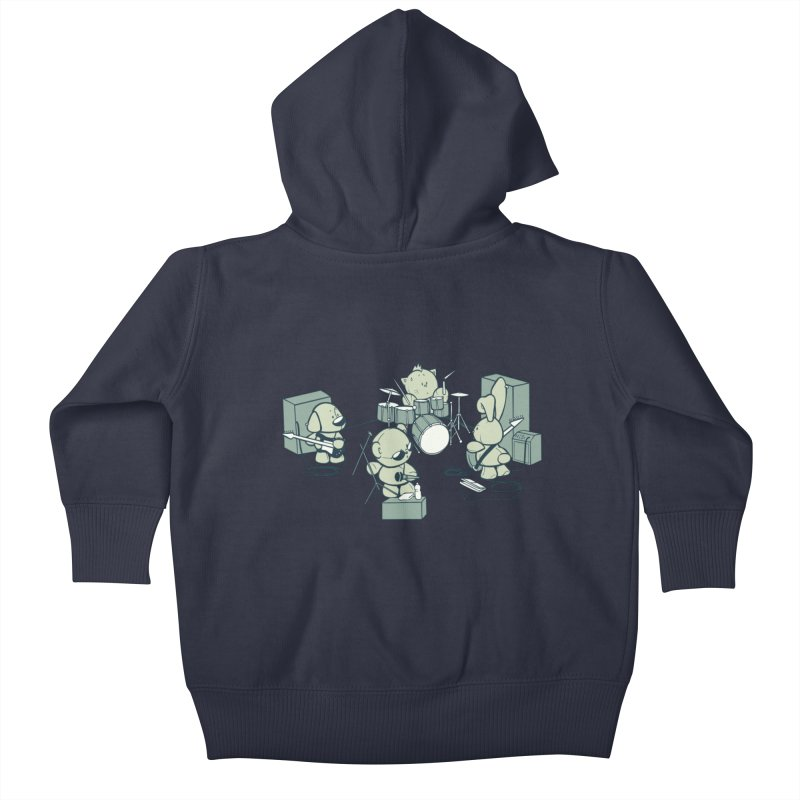 Teddy Band Kids Baby Zip-Up Hoody by AlePresser's Artist Shop