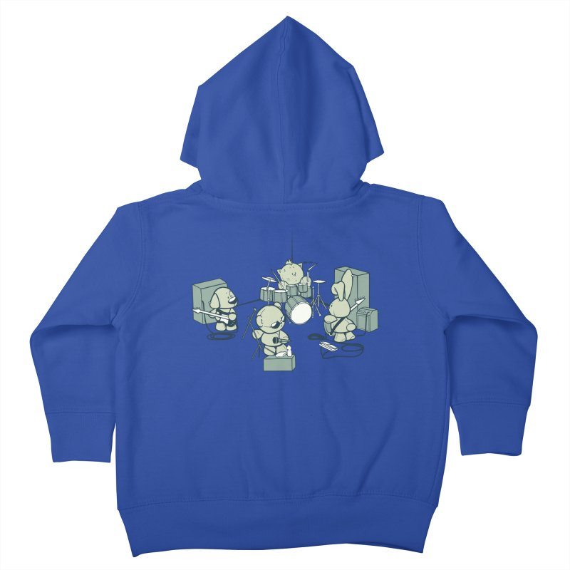 Teddy Band Kids Toddler Zip-Up Hoody by AlePresser's Artist Shop
