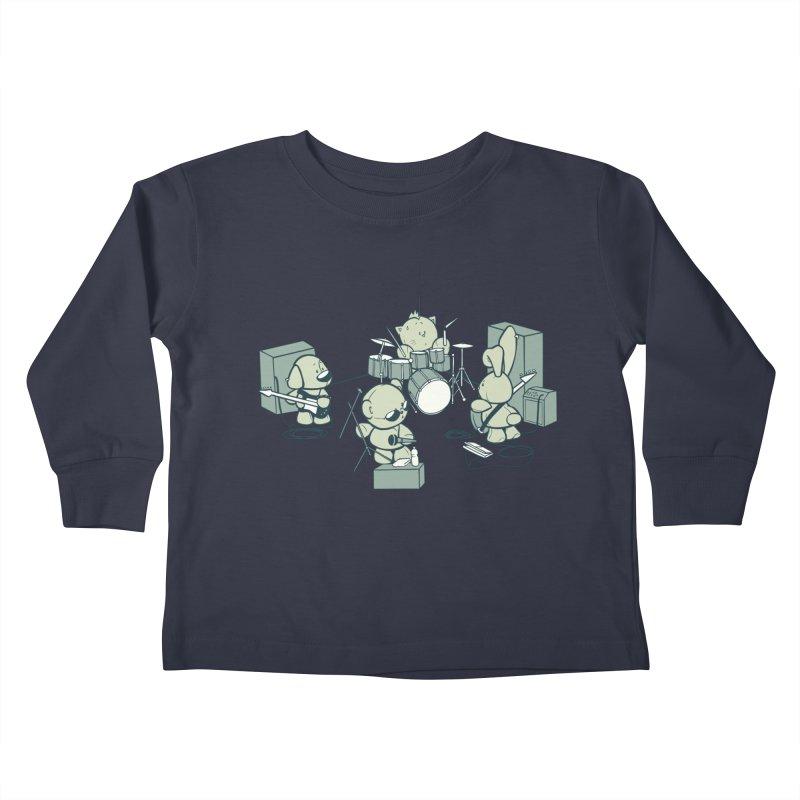 Teddy Band Kids Toddler Longsleeve T-Shirt by AlePresser's Artist Shop