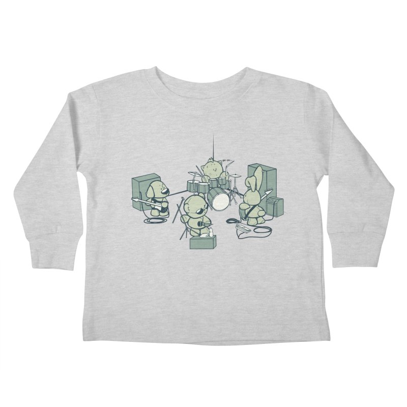 Teddy Band Kids Toddler Longsleeve T-Shirt by AlePresser's Artist Shop