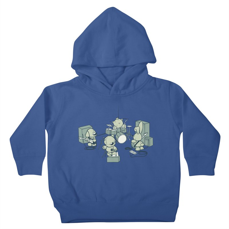 Teddy Band Kids Toddler Pullover Hoody by AlePresser's Artist Shop