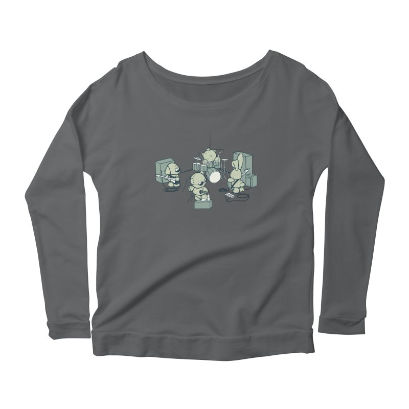 Teddy Band Women's Longsleeve Scoopneck  by AlePresser's Artist Shop