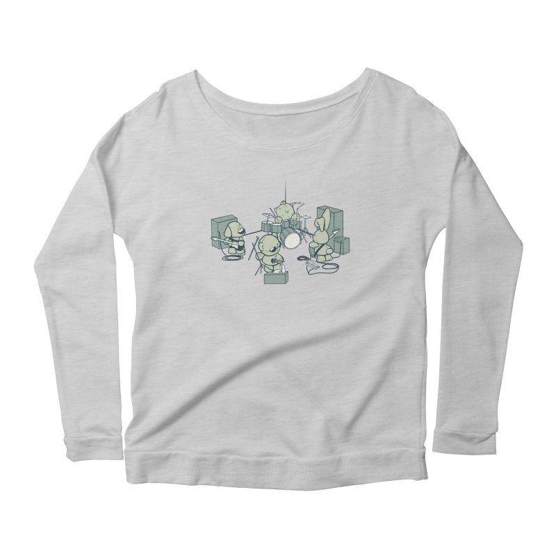 Teddy Band Women's Scoop Neck Longsleeve T-Shirt by AlePresser's Artist Shop