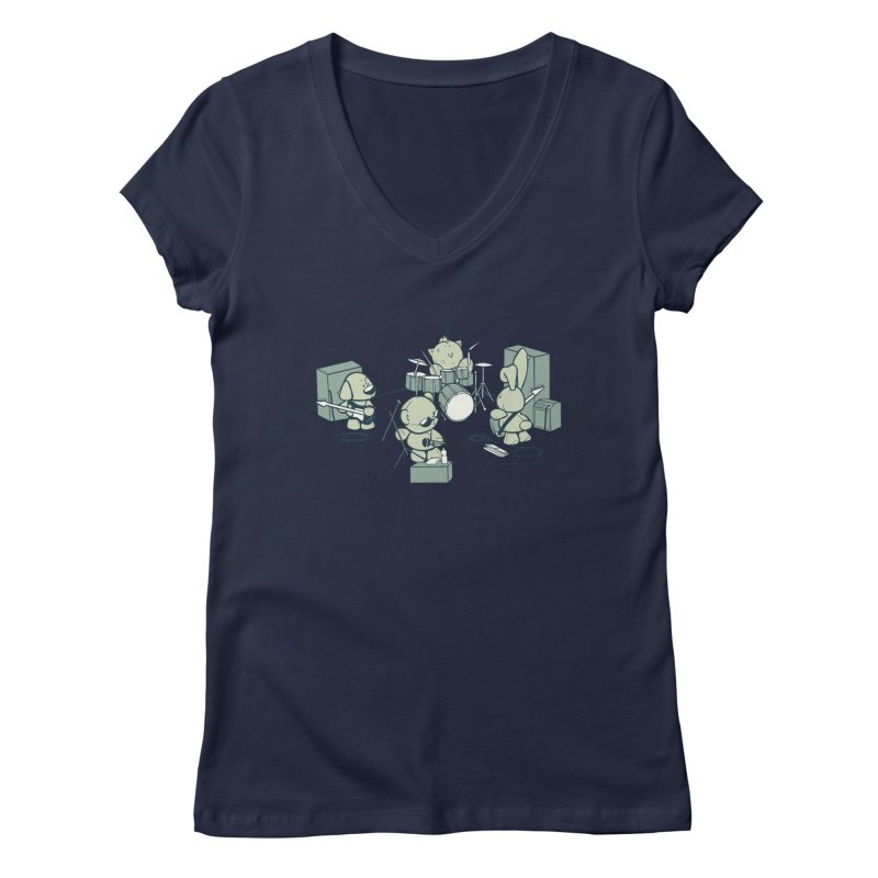 Teddy Band Women's V-Neck by AlePresser's Artist Shop