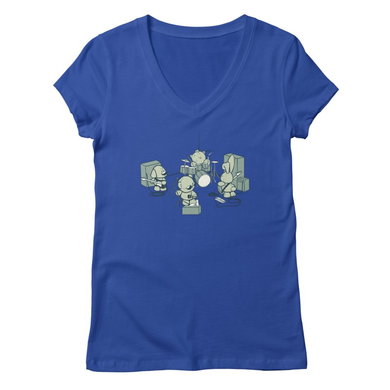 Teddy Band Women's Regular V-Neck by AlePresser's Artist Shop
