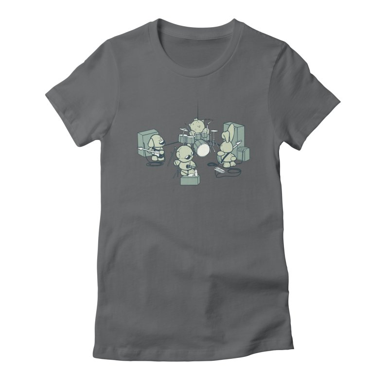 Teddy Band Women's Fitted T-Shirt by AlePresser's Artist Shop