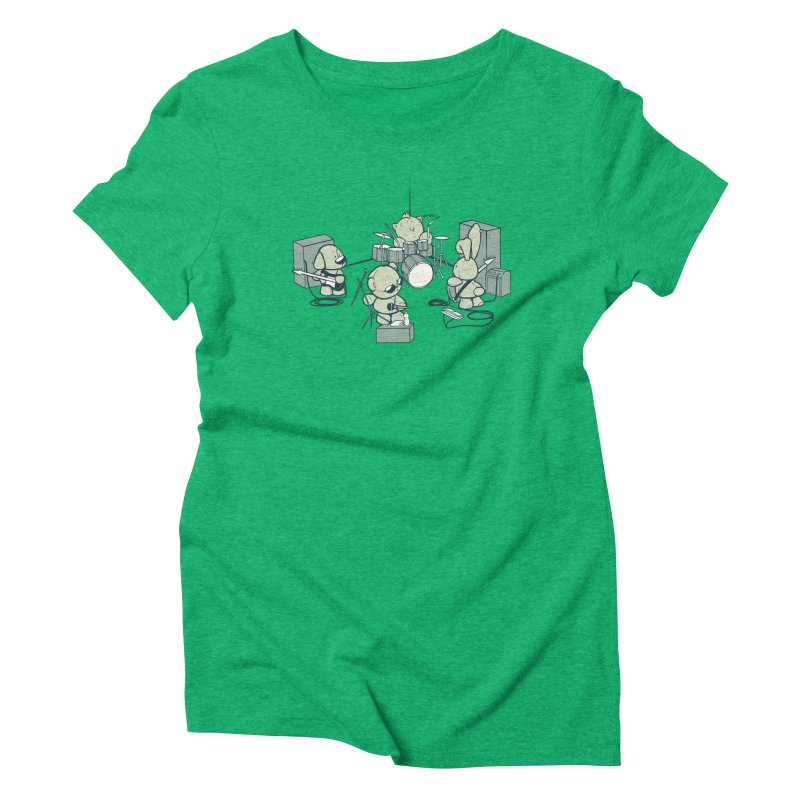 Teddy Band Women's Triblend T-Shirt by AlePresser's Artist Shop
