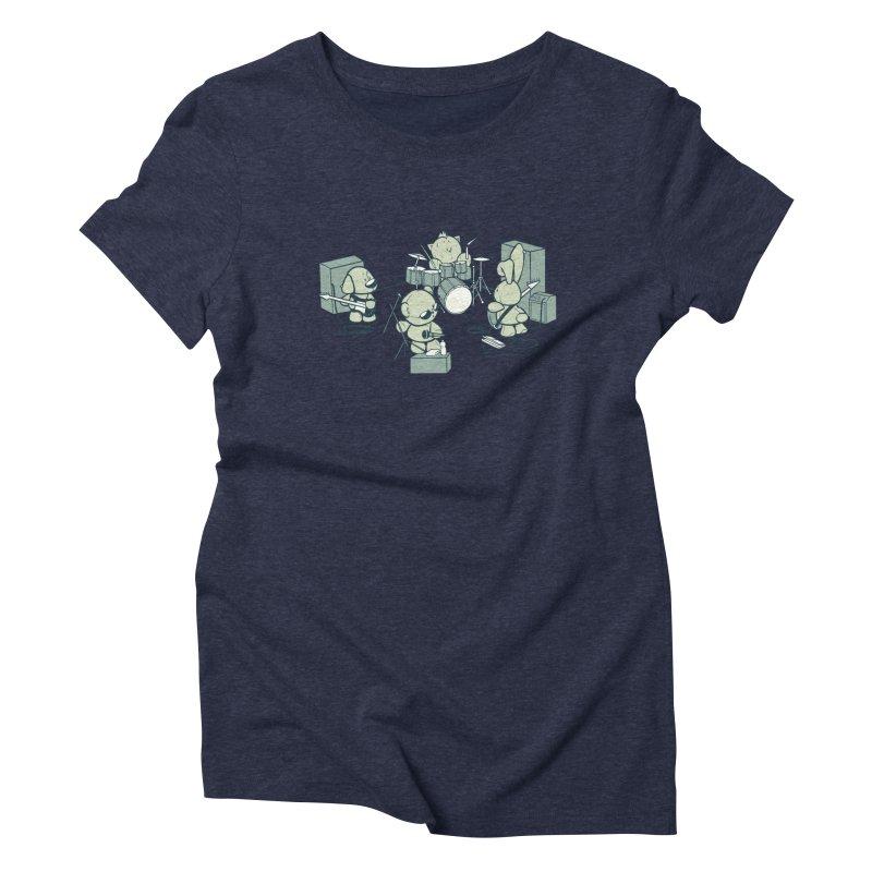 Teddy Band Women's Triblend T-Shirt by AlePresser's Artist Shop