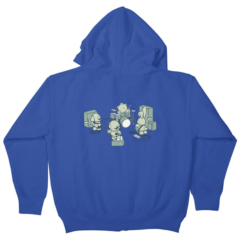 Teddy Band Kids Zip-Up Hoody by AlePresser's Artist Shop