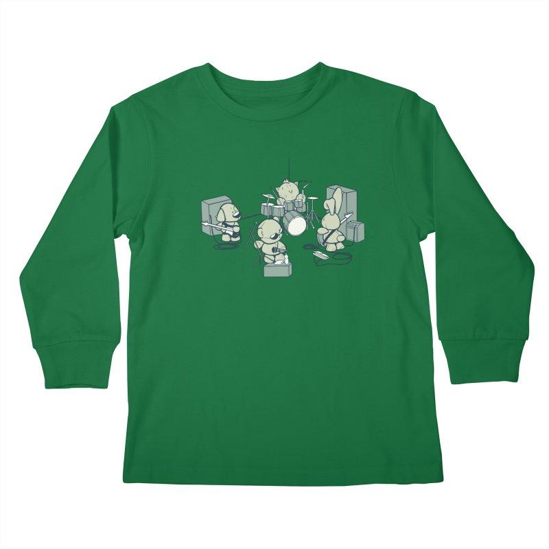 Teddy Band Kids Longsleeve T-Shirt by AlePresser's Artist Shop