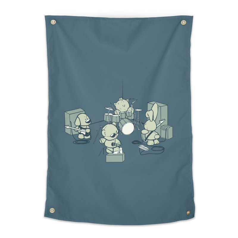 Teddy Band Home Tapestry by AlePresser's Artist Shop