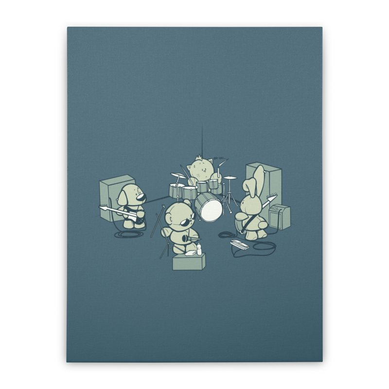 Teddy Band Home Stretched Canvas by AlePresser's Artist Shop