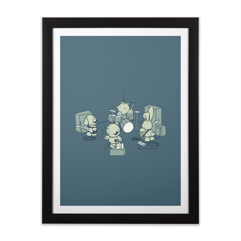 Teddy Band Home Framed Fine Art Print by AlePresser's Artist Shop
