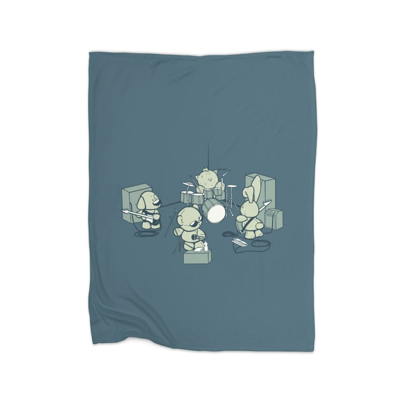 Teddy Band Home Blanket by AlePresser's Artist Shop
