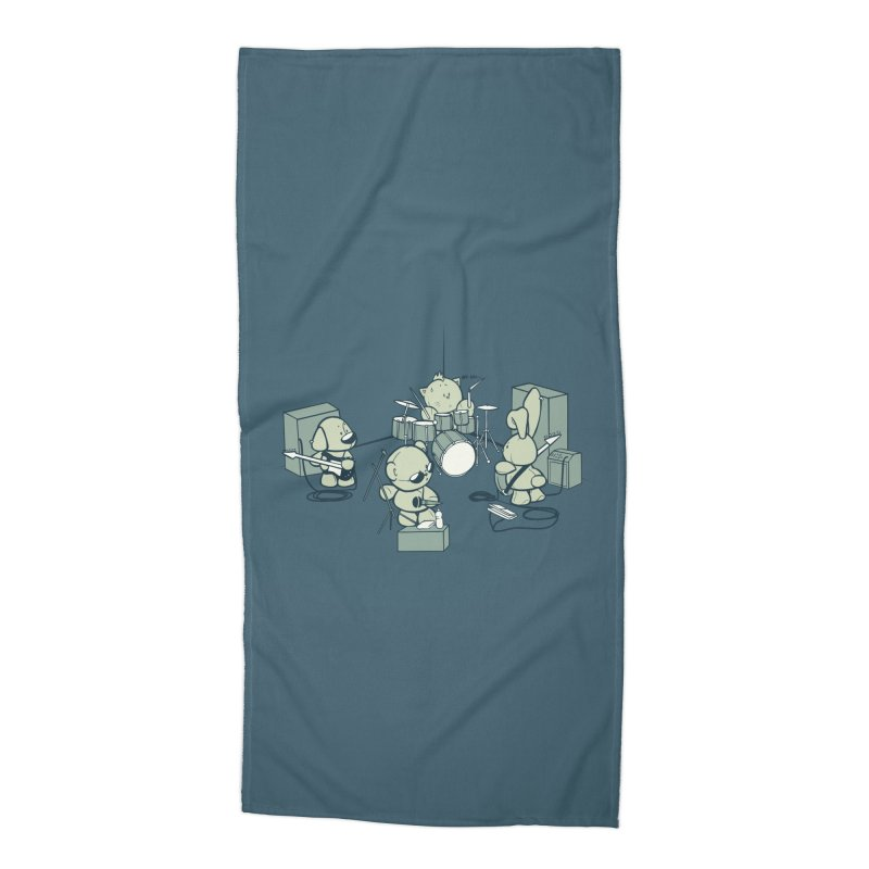 Teddy Band Accessories Beach Towel by AlePresser's Artist Shop