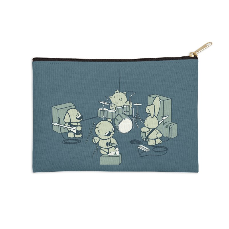 Teddy Band Accessories Zip Pouch by AlePresser's Artist Shop