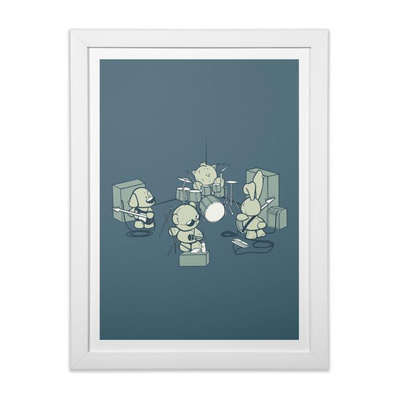 Teddy Band Home Framed Fine Art Print by AlePresser's Artist Shop