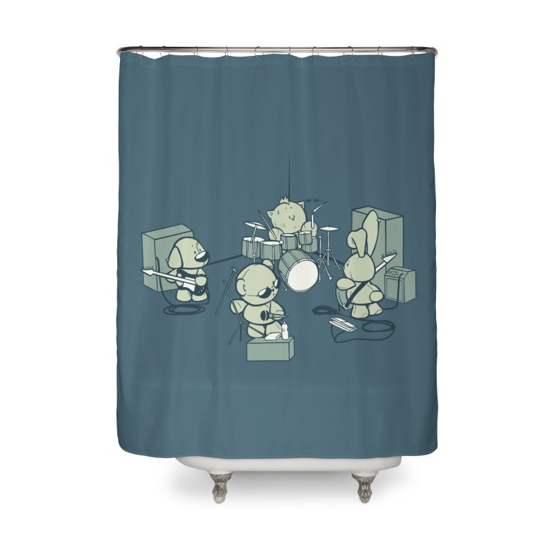 Teddy Band Home Shower Curtain by AlePresser's Artist Shop