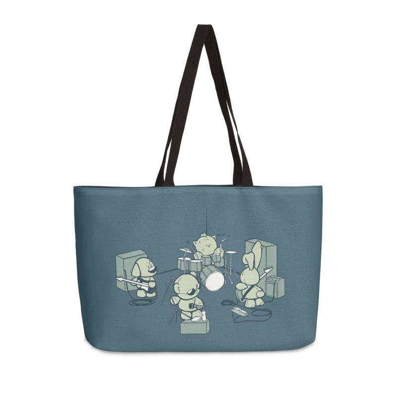 Teddy Band Accessories Weekender Bag Bag by AlePresser's Artist Shop