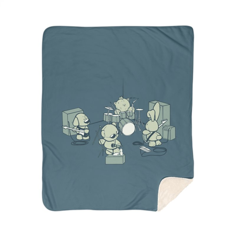 Teddy Band Home Sherpa Blanket Blanket by AlePresser's Artist Shop