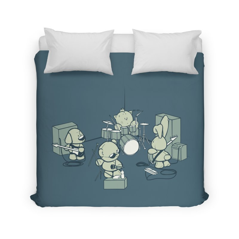 Teddy Band Home Duvet by AlePresser's Artist Shop