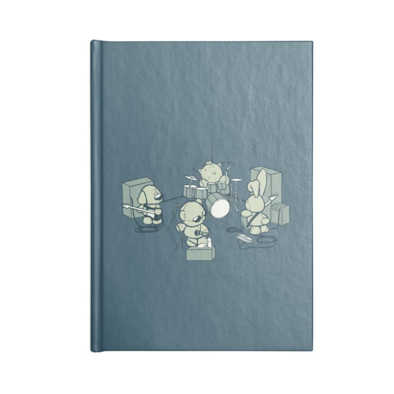 Teddy Band Accessories Lined Journal Notebook by AlePresser's Artist Shop