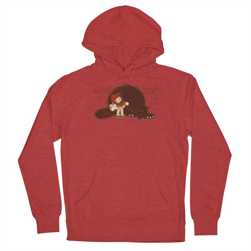 Bossy Red Riding Hood Men's French Terry Pullover Hoody by AlePresser's Artist Shop