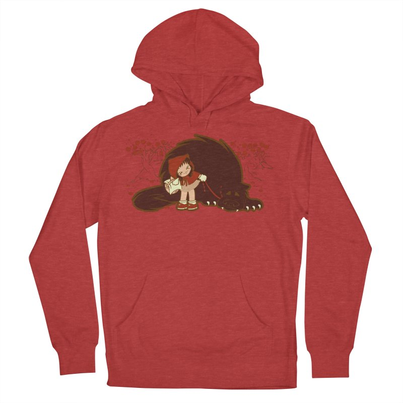 Bossy Red Riding Hood Women's French Terry Pullover Hoody by AlePresser's Artist Shop