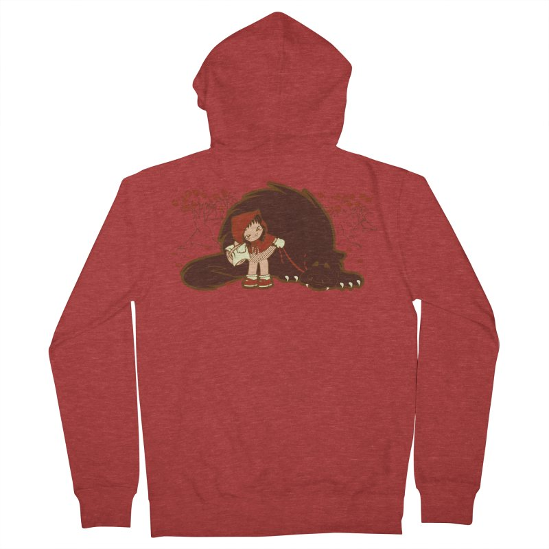 Bossy Red Riding Hood Men's French Terry Zip-Up Hoody by AlePresser's Artist Shop