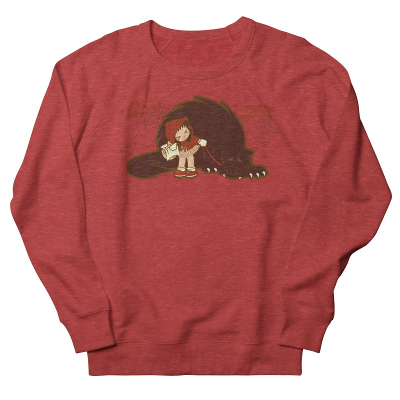 Bossy Red Riding Hood Men's French Terry Sweatshirt by AlePresser's Artist Shop