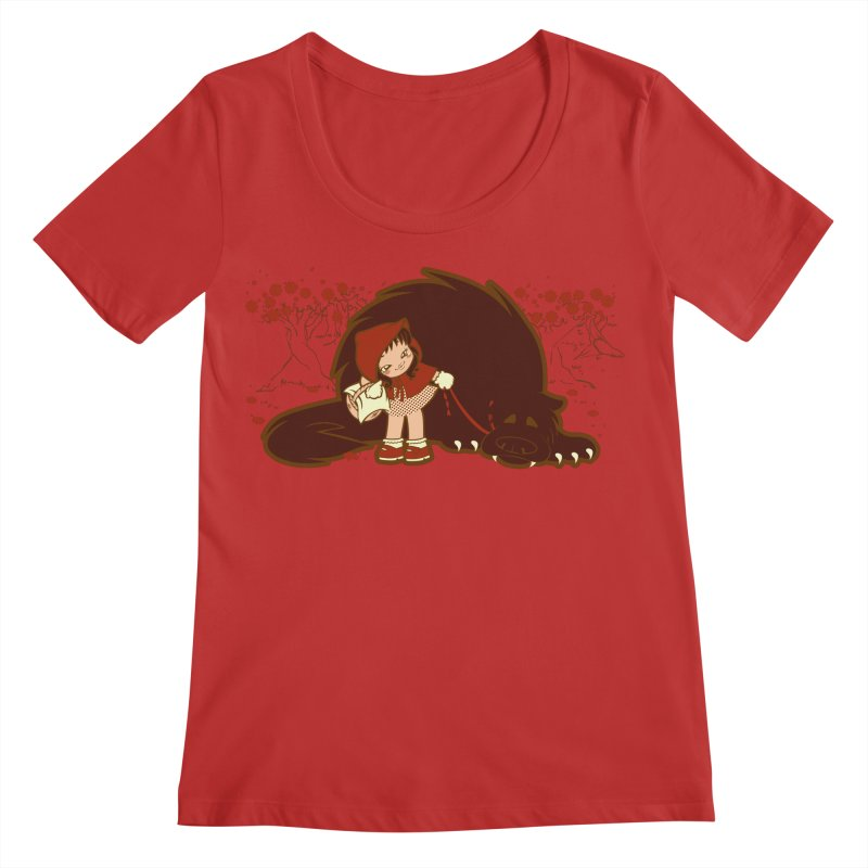Bossy Red Riding Hood Women's Regular Scoop Neck by AlePresser's Artist Shop