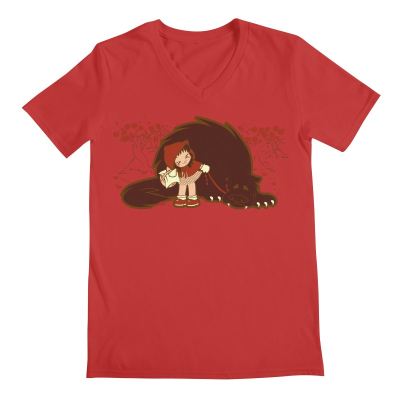 Bossy Red Riding Hood Men's V-Neck by AlePresser's Artist Shop
