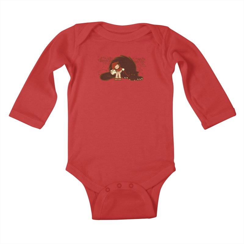 Bossy Red Riding Hood Kids Baby Longsleeve Bodysuit by AlePresser's Artist Shop
