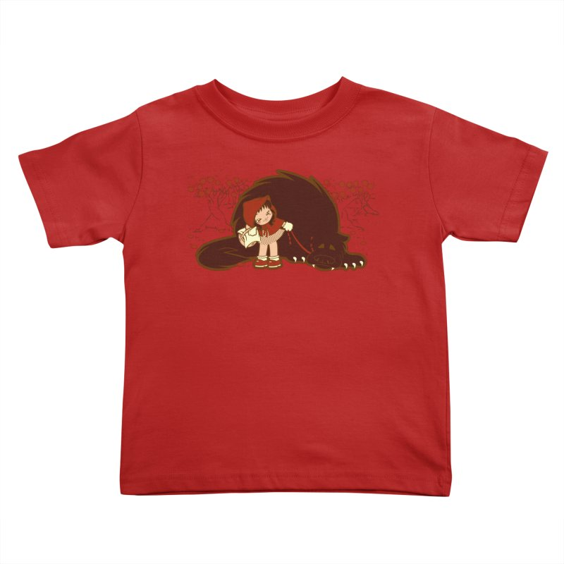 Bossy Red Riding Hood Kids Toddler T-Shirt by AlePresser's Artist Shop