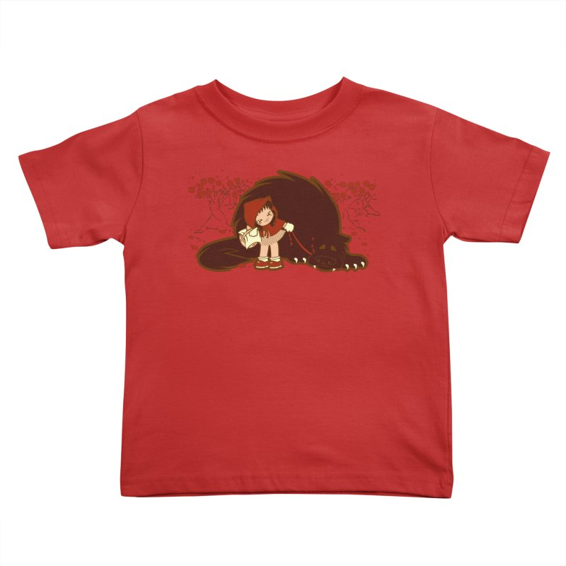 Bossy Red Riding Hood Kids Toddler T-Shirt by AlePresser's Artist Shop