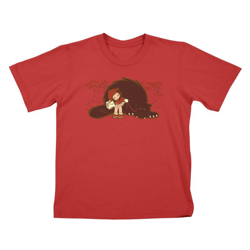 Bossy Red Riding Hood Kids T-Shirt by AlePresser's Artist Shop