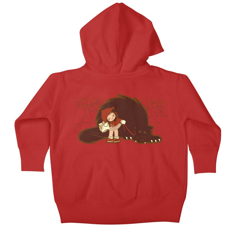 Bossy Red Riding Hood Kids Baby Zip-Up Hoody by AlePresser's Artist Shop