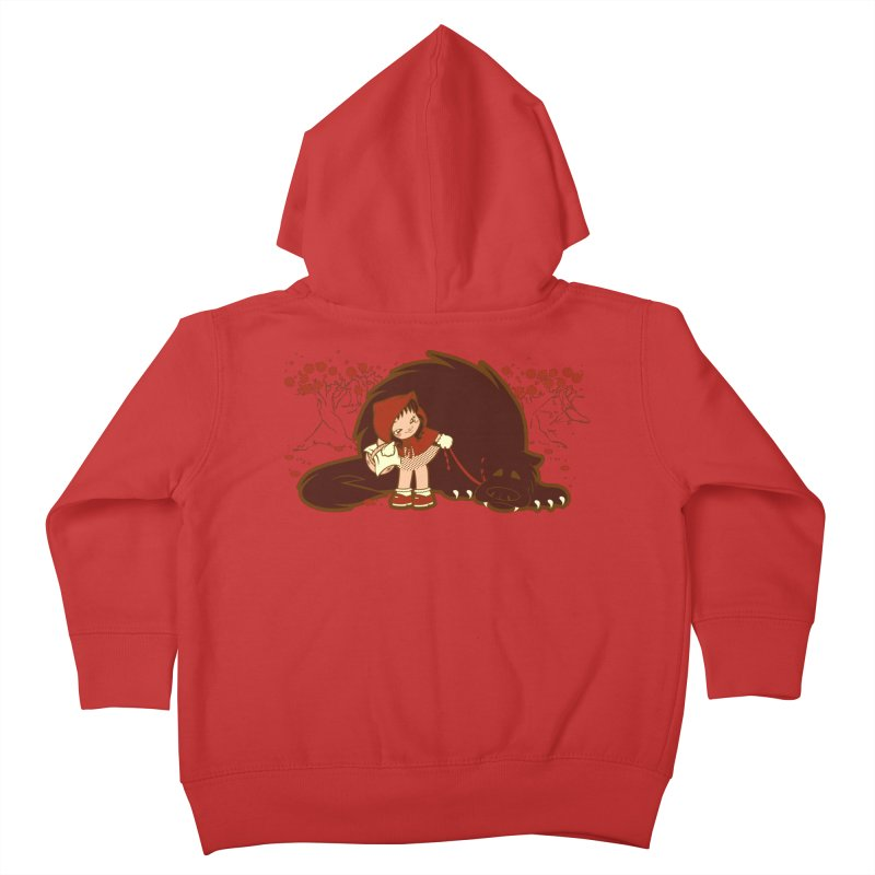 Bossy Red Riding Hood Kids Toddler Zip-Up Hoody by AlePresser's Artist Shop