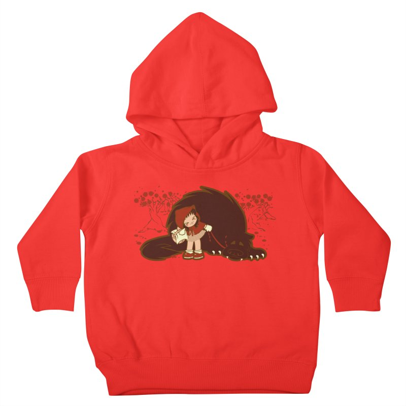 Bossy Red Riding Hood Kids Toddler Pullover Hoody by AlePresser's Artist Shop