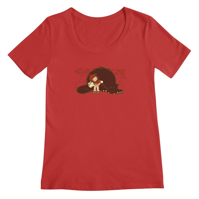 Bossy Red Riding Hood Women's Scoopneck by AlePresser's Artist Shop