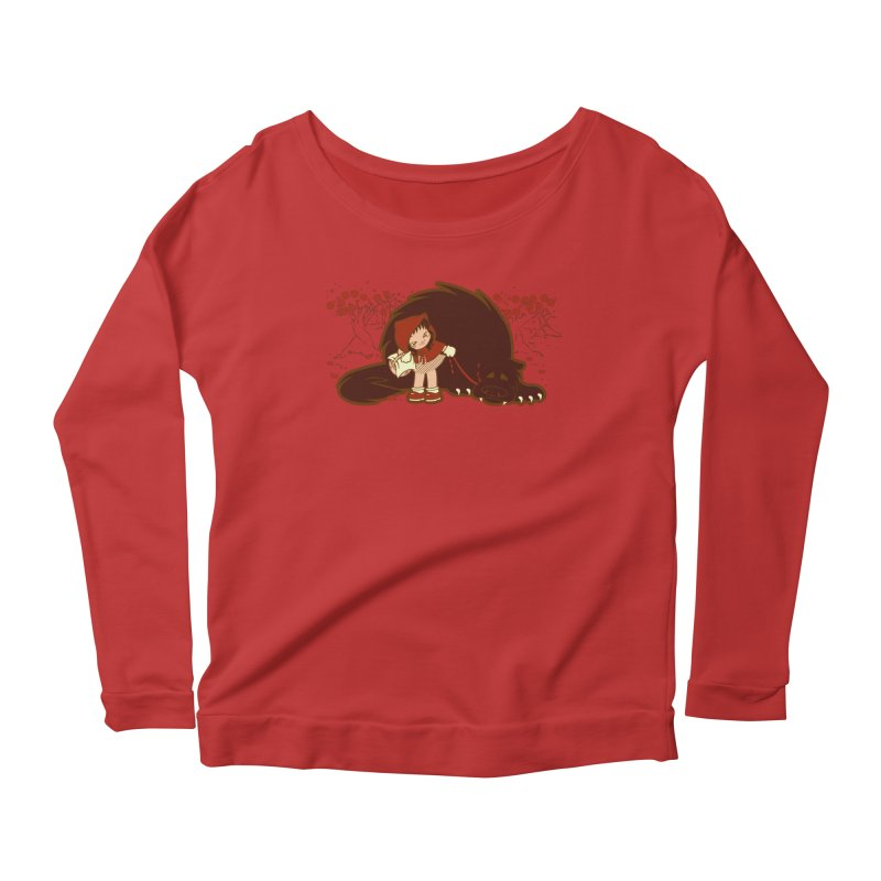 Bossy Red Riding Hood Women's Longsleeve Scoopneck  by AlePresser's Artist Shop