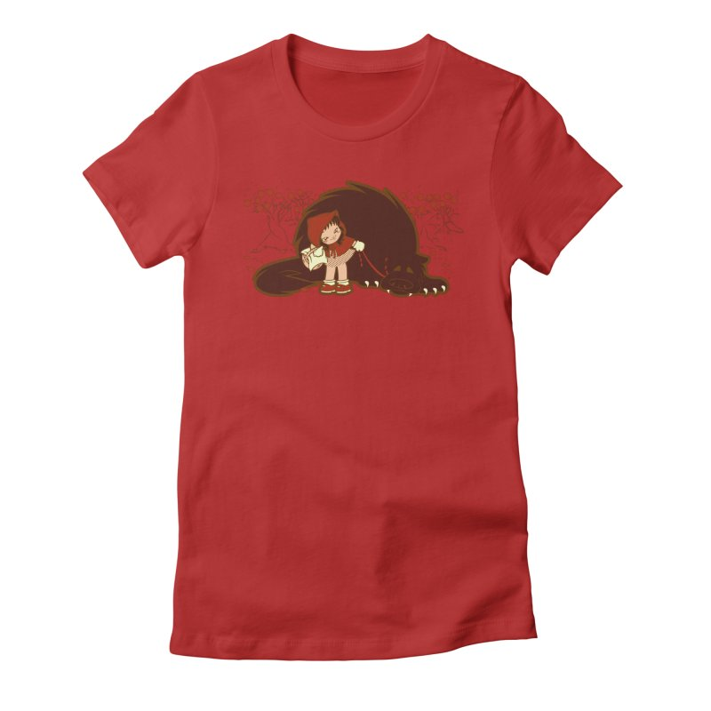 Bossy Red Riding Hood Women's Fitted T-Shirt by AlePresser's Artist Shop