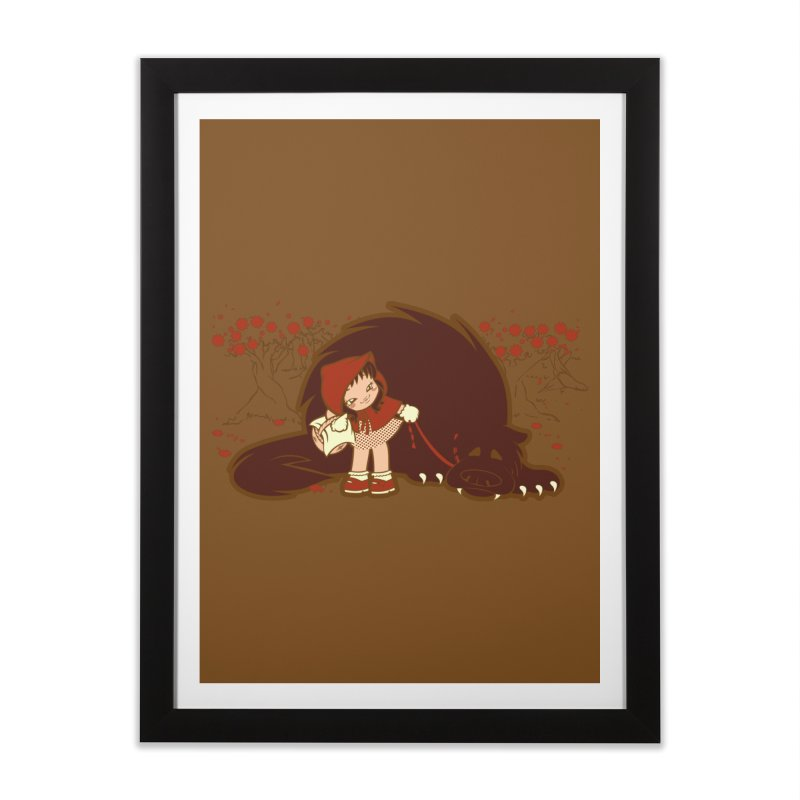 Bossy Red Riding Hood Home Framed Fine Art Print by AlePresser's Artist Shop