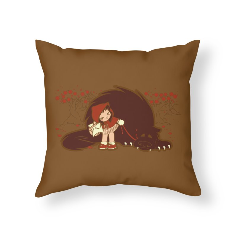Bossy Red Riding Hood Home Throw Pillow by AlePresser's Artist Shop
