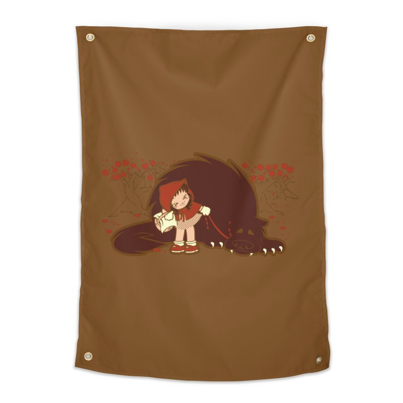 Bossy Red Riding Hood Home Tapestry by AlePresser's Artist Shop